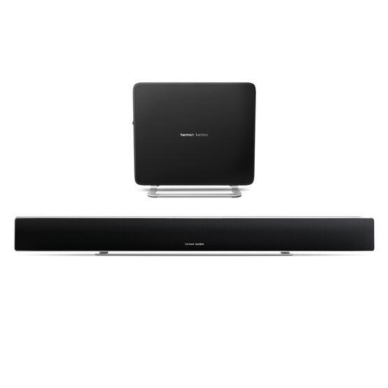 Sabre SB 35 - Black - Devastatingly slim home entertainment soundbar with compact subwoofer. - Hero